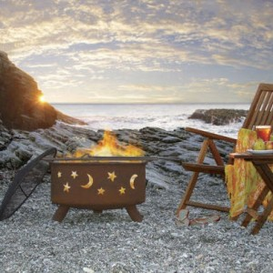 Patina Products Evening Sky Fire Pit with Cover and Optional Stand