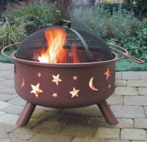 Landmann Big Sky Stars and Moon Fire Pit,Georgia Clay
