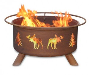 Patina Products Moose Tree Fire Pit with Cover