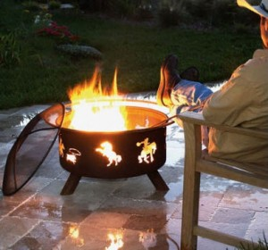 Patina Products Western Fire Pit with Cover