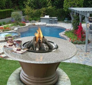 California outdoor concepts san simeon gas fire pit table for California outdoor concepts