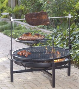 Landmann Round Rock Grill Rotisserie and Fire Pit