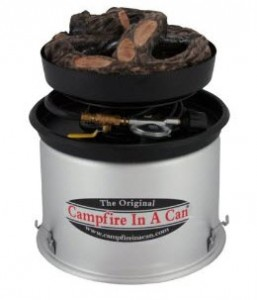 Gas can campfire