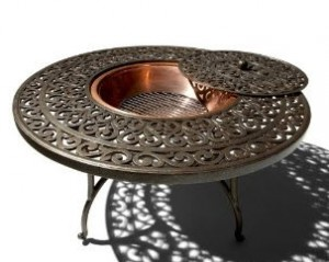 Strathwood St Thomas Cast Aluminum Round Table Fire Pit