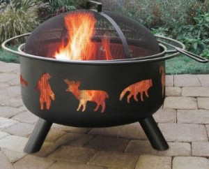 Landmann 28347 Big Sky Fire Pit Wildlife Pattern