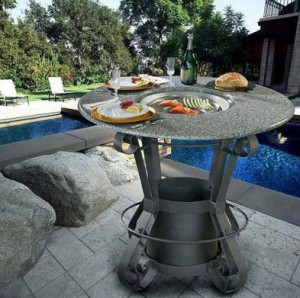 California Outdoor Concepts Solano Bar Height Gas Fire Pit Table