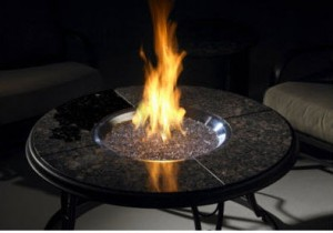 Outdoor Greatroom 42 inch Chat Table Crystal Fire