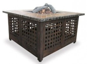 LP Gas Outdoor Firebowl with Slate Marble Mantel by Blue Rhino Blue Rhino (GAD860SP)
