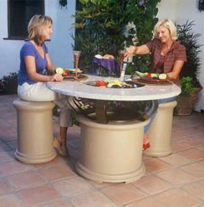 California Outdoor Concepts Del Mar Fire Pit Table with Cooler Insert