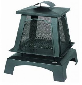 CharBroil Trentino Outdoor Fireplace with Removable Side Screens
