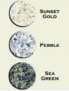 Granite Color Options for Del Mar Fire Pit