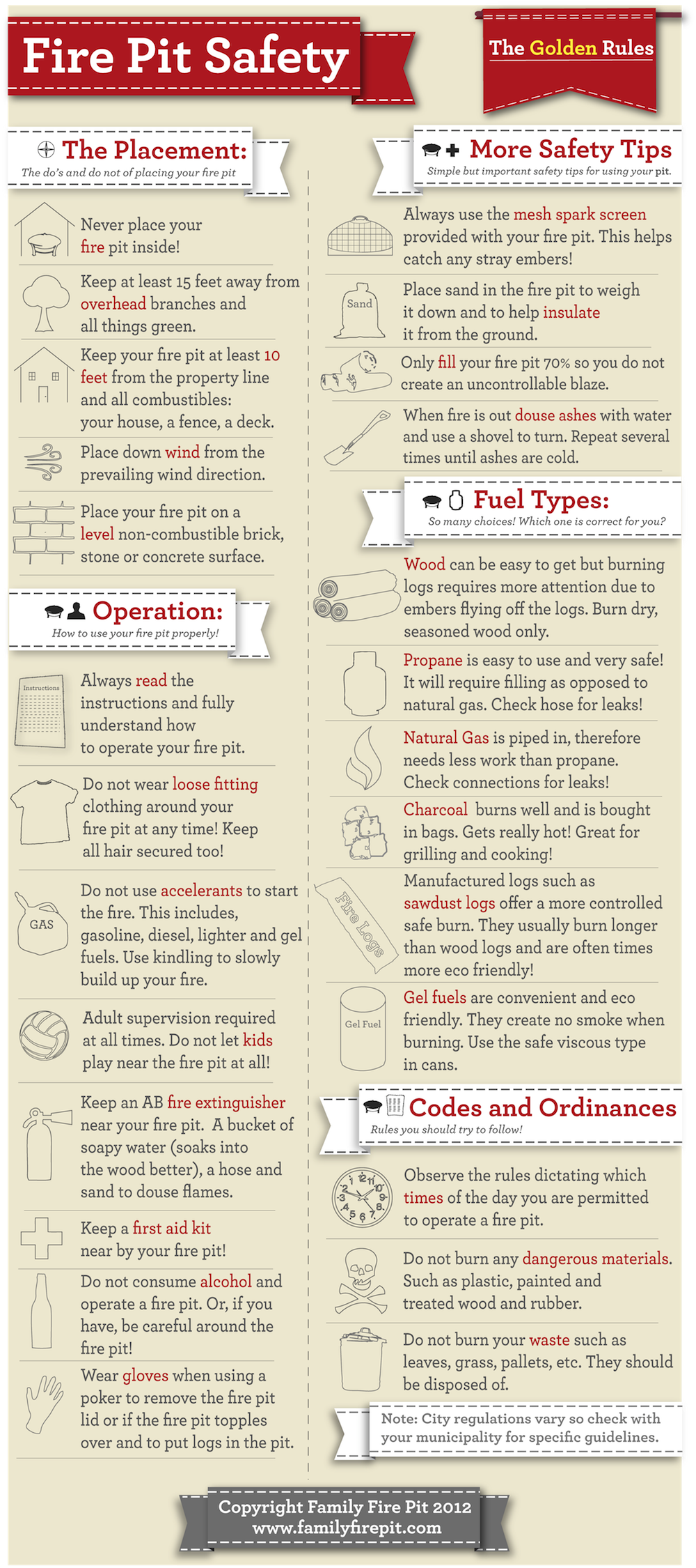Home Fire Pit Safety Checklist