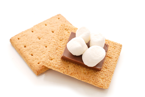 Smores ingreedients stacked