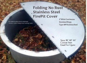 Folding No Rust Fire Pit Cover 40 inch