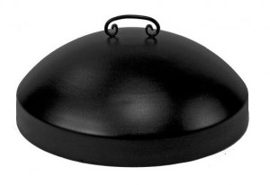 Round Metal Fire Pit Snuffer Lid