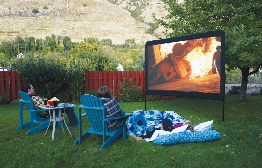 Backyard Movie Projectors outdoor movie night ideas | family fire pit reviews
