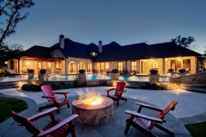 Fire pit by the pool. Christina Thompson photo. Courtesy One Specialty.